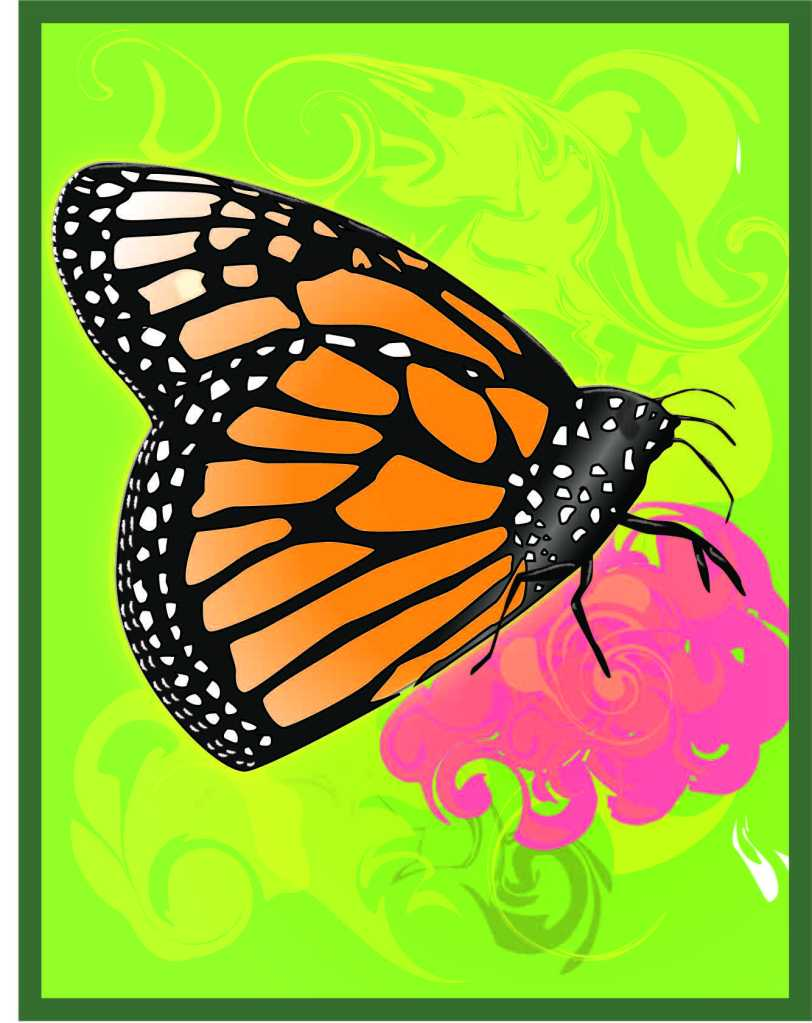 Monarch Butterfly Computer Art